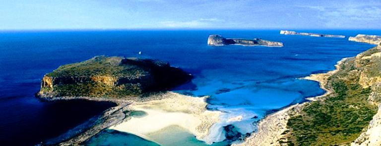 Balos Lagoon aerial image, Crete Greece
