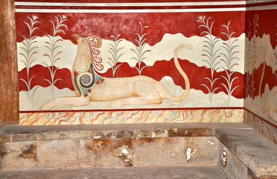The Throne Room of Knossos with Griffin Fresco Iimage by János Korom Dr.)