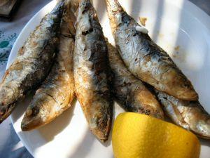 Local atherina fried fish with plenty of lemon mmmmm