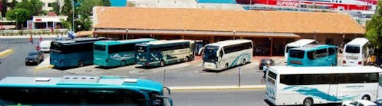 Heraklion Bus Station A - near the port - regional buses arrive here from Rethymnon and depart for Agios Nikolaos