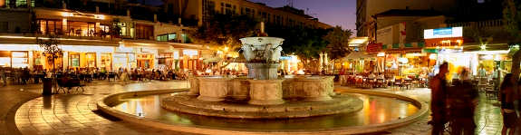 Heraklion - the Liondaria Fountain is a handy meeting spot