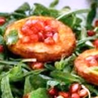 Stamnagathi Wild Greens - Salad with Goat's Cheese and Pomegranate