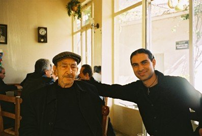 Toli and a friend of his Papou in the kafenion