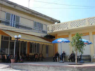 The little plateia and kafenion