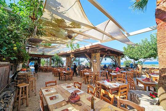Gramvoussa or Gramvousa or Gramboussa Restaurant is in Kaliviani, Chania, Crete