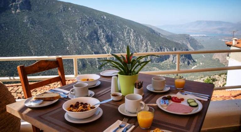 Kastalia Boutique Hotel in the old town of Delphi