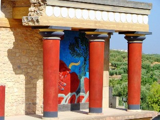 The partially reconstructed site of Knossos is controversial for its modern touches
