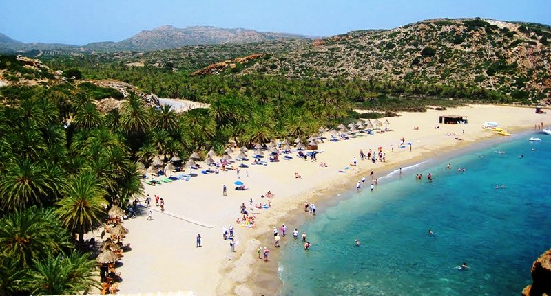 Vai Palm Beach is on the eastern tip of Crete