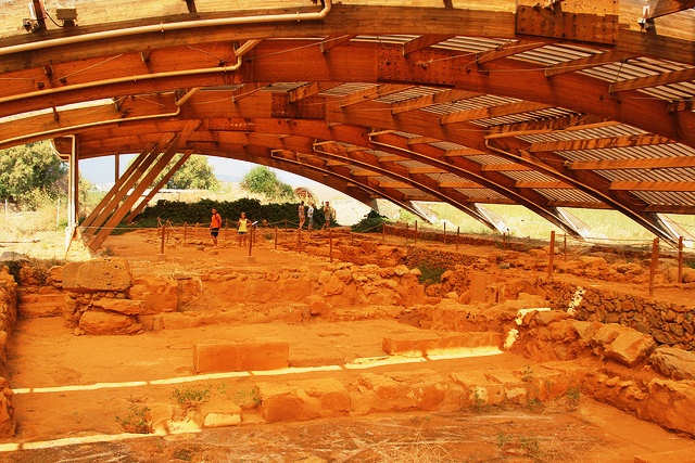 Archaeological site with covered digs (image by Alexander Baranov)