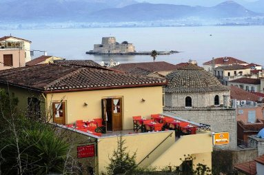 Pension Marianna, exterior with view to the bay