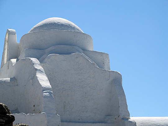 Crete to Mykonos - white island architecture against a blue sky