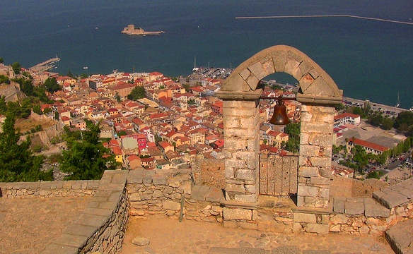 Napping in Nafplion - view from the fortress overlooking the terracotta rooves of town