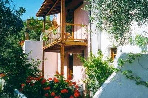 The Olive Tree Cottages are set a little bit back from the village, in an olive grove