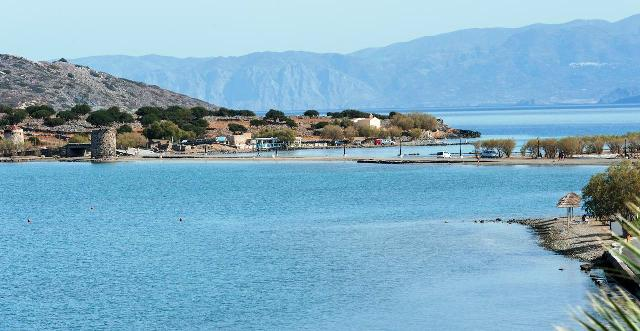 View of olous isthmus from Elounda