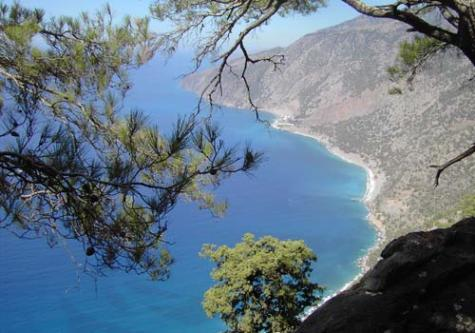 The south coast of Crete
