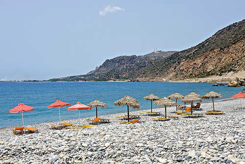 Paleochora Beach on the south coast of Chania