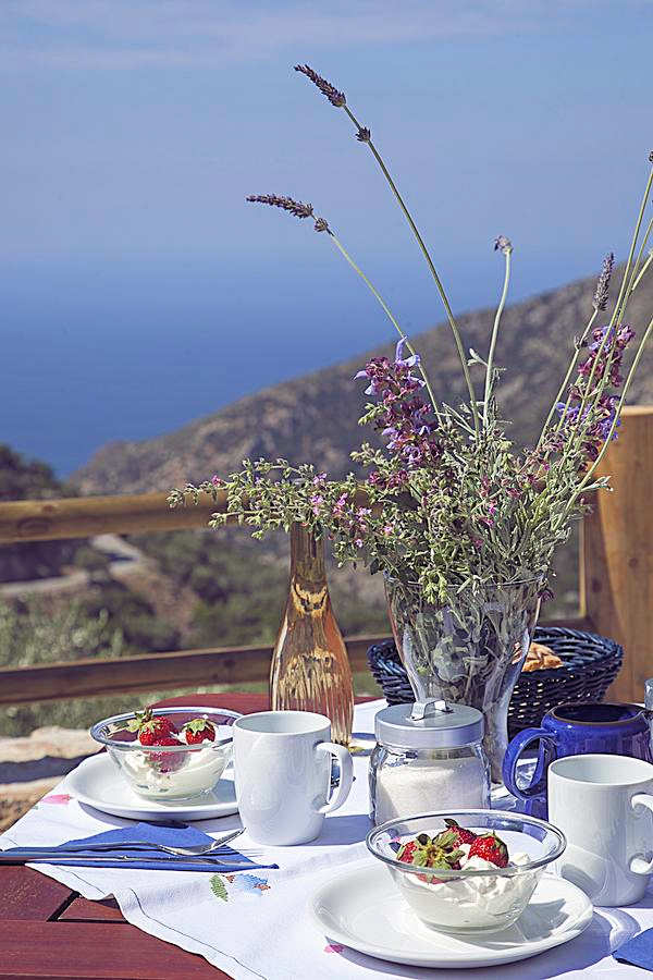 What a view for breakfast! Sea views in privacy from Christo's place, 5 km from the village