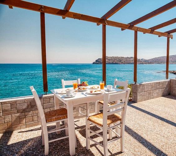 Plaka Seaside Suite looks across to Spinalonga Island