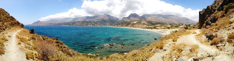 The bay of Plakias in south Crete