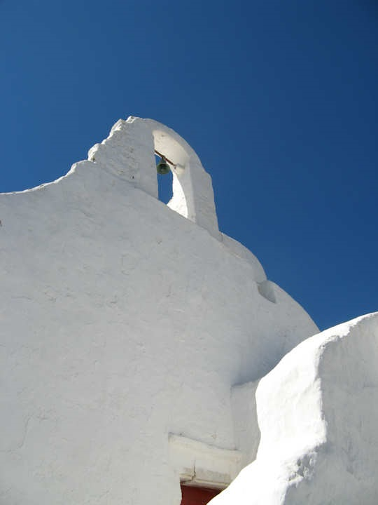 This is 'light madness' - white on white buildings with the magic blue of the Med in the background!