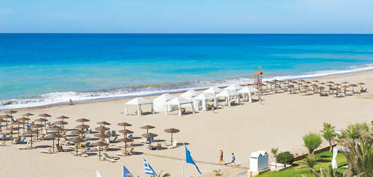 Rethymnon Beach has many beautiful resorts and a wide, sandy, long beach