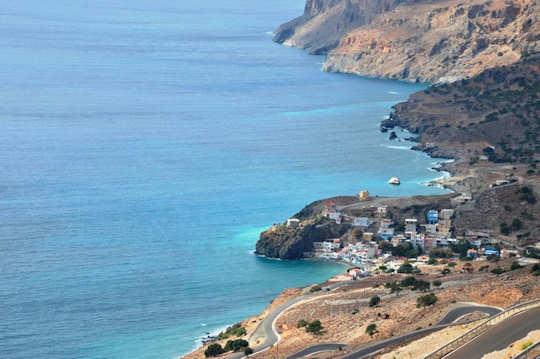 The road to Tris Ekklisies, Crete
