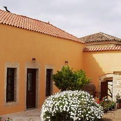 Restored mansion - courtyard with cottage flowers