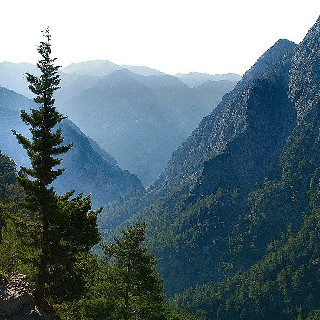 Samaria Gorge - view from the entrance (image by Atli Hardarson)