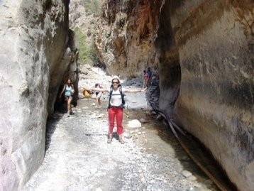 At the Portes - narrowest section of the ravine