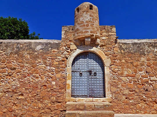 The Kazarma derived from 'Casa di Arma' sits atop Sitia in eastern Crete