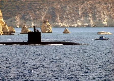 Greek and NATO navy vessels use this bay as a base