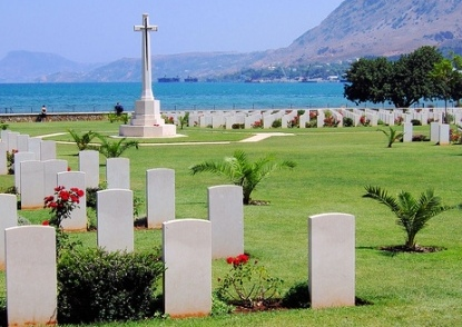 The War Cemetaries are located on the bay