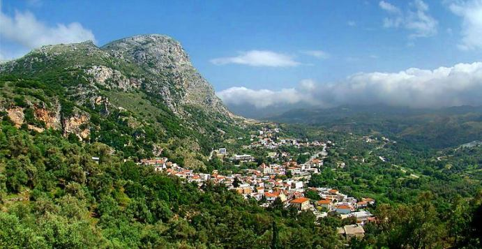Spili village sits at the foot of Mount Kedros in central Crete