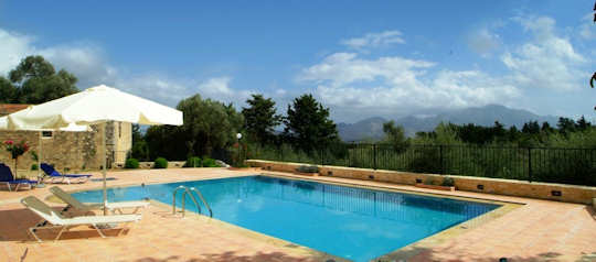 Stavromenos Villa near Rethymnon in Crete is surrounded by olive groves