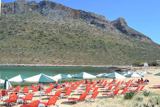 Stavros Beach is clean and organised