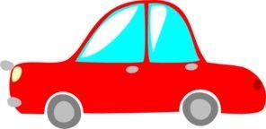 Little red car cartoon