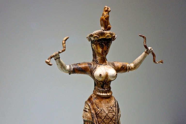 Statuette of Snake Goddess found at Knossos Crete