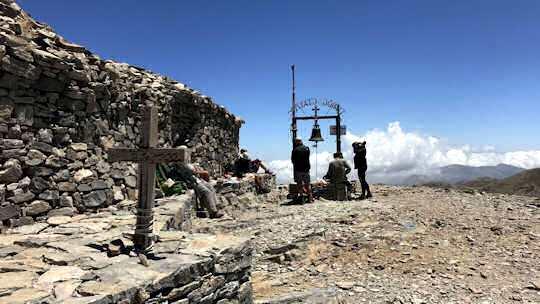 The chapel of Timios Stavros at the peak of Psiloritis - Mount Ida - Crete