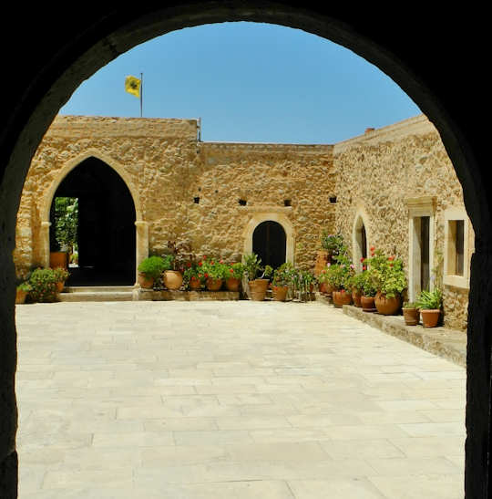 Toplou Monastery Archway (image by Mark Latter)