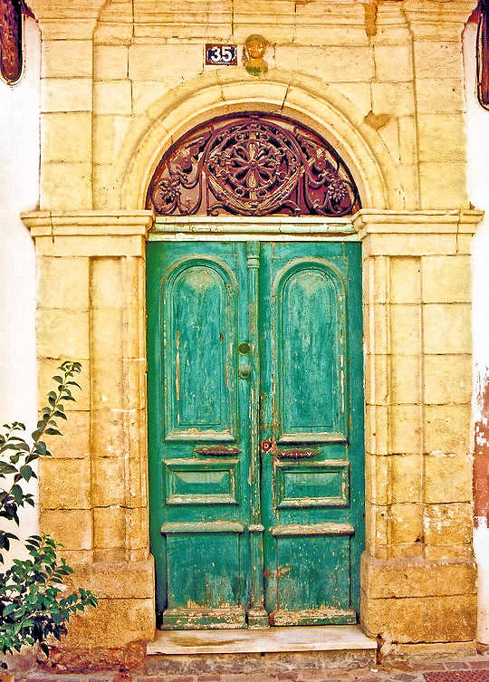 Venetian doorway in Chania, Crete