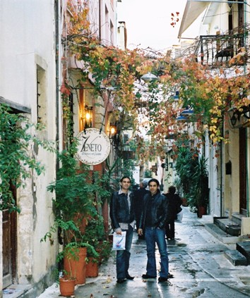 Taso and Toli in the Old Town of Rethymnon