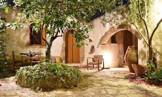 A romantic village home in western Crete