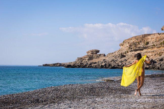 Vritomartis Naturist Resort in Crete - clothing is optional on the beach