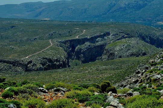 Zakros Gorge is just 35 km