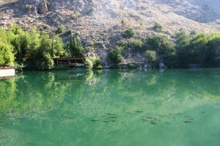 Lake Votamos, clear water and fish (image by Boky1)