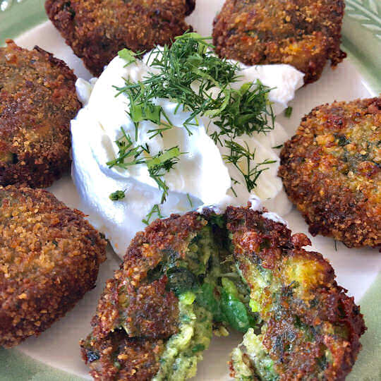 Zucchini balls Κολοκυθοκεφτέδες are not just an excuse to have Tzatziki Τζατζίκι but taste wonderful too